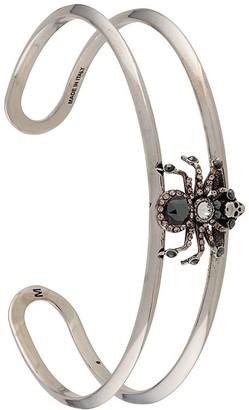 Alexander McQueen Embellished Spider Skull Cuff