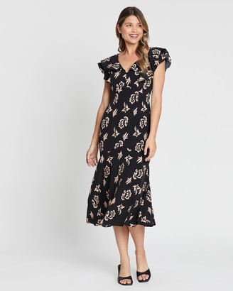 Forcast Norah Floral Ruffle Dress
