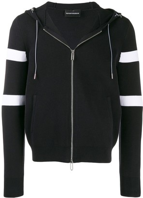 Emporio Armani Knitted Striped Hoody