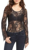Band of Gypsies Long Sleeve Lace Bodysuit