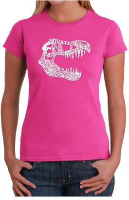 Women Word Art T-Shirt - T-Rex