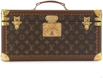Louis Vuitton Logo Print Cosmetic Case