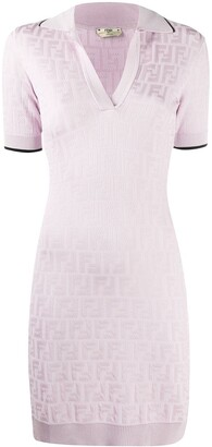Fendi x Joshua Vides FF-motif knitted dress