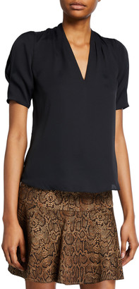 Joie Ance V-Neck Short-Sleeve Top