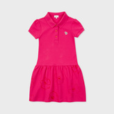 Paul Smith Girls' 7+ Years Fuchsia Zebra-Logo Polo-Dress