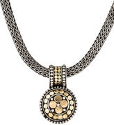 John Hardy Two-Tone Dot Pendant Wheat Necklace