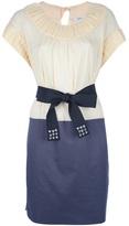 Sonia Rykiel Sonia By pleated bi-colour dress