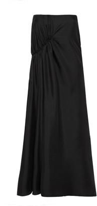 Esse Studios Gathered Silk Maxi Skirt