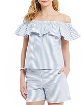 Daniel Cremieux Darcy Stripe Off-the-Shoulder Blouse