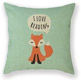 Customized Standard New Arrival Pillowcase Kids Design Aqua Blue Background I Love Reading Girl Throw Pillow 20 X 20 Square Cotton Linen Pillowcase Cover Cushion by Cushion Cover