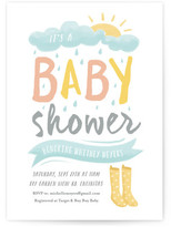 Minted Wellies Baby Shower Invitations