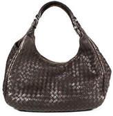 Bottega Veneta Brown Leather Basket Woven Medium Hobo Handbag