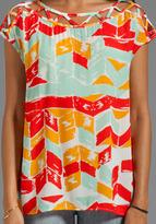 Ella Moss Totem Post Short Sleeve Top