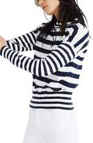 Madewell Stripe Mock Neck Sweater