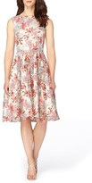 Tahari Women's Embroidered Fit & Flare Dress