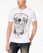 Buffalo David Bitton Men's Nautin Metallic Graphic Split-Neck T-Shirt