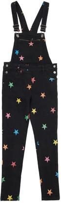 Stella McCartney Kids Star Print Stretch Denim Overalls