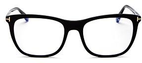 Tom Ford Women's Square Blue Light Glasses, 54mm