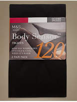 M&S Collection 2 Pair Pack 120 Denier Body SensorTM Opaque Tights
