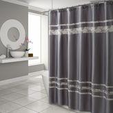 Croscill Spa Tile Shower Curtain in Grey
