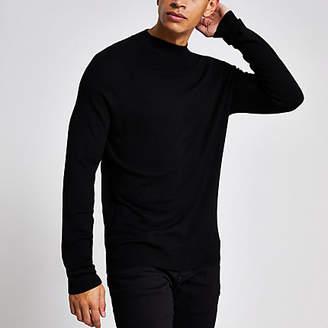 River Island Black slim fit turtle neck knitted jumper
