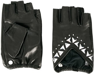 Karl Lagerfeld Paris K/Studs fingerless gloves