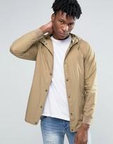 Pull&bear Lightweight Jacket In Beige With Hood