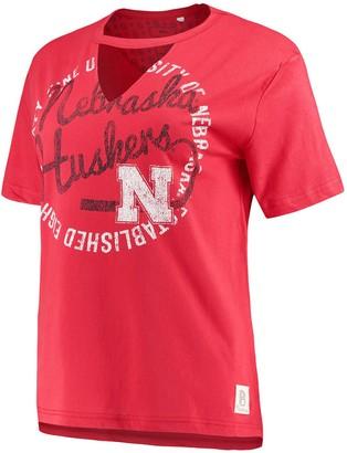 Women's Pressbox Scarlet Nebraska Cornhuskers Saylor Choker T-Shirt