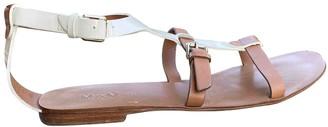 Max Mara Brown Leather Sandals