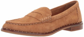 Sperry Womens Seaport Penny Stud Suede Loafer