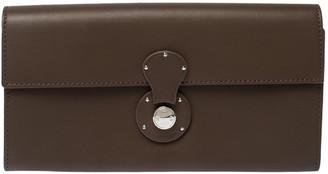 Ralph Lauren Dark Beige Soft Leather Ricky Continental Wallet