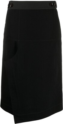 Lemaire High-Rise Asymmetric Midi Skirt