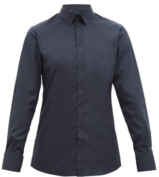 Dolce & Gabbana Gold-fit Tailored Cotton-blend Shirt - Mens - Navy