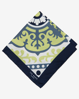 Ted Baker Graphic Floral Pocket Square Navy