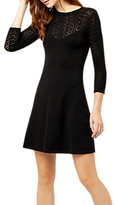 Warehouse Pretty Stitch Yoke Dress, Black