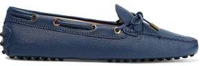 Tod's Bow-detailed Textured-leather Loafers