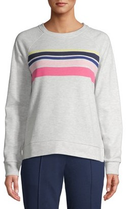 Time and Tru Women's Striped Sweatshirt