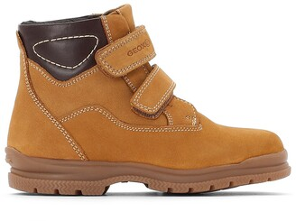 Geox J Navado Boy C Leather Touch 'n' Close Ankle Boots
