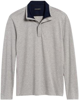 Banana Republic Luxury-Touch Half-Zip T-Shirt