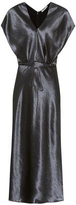 Vince Hammered-satin dress