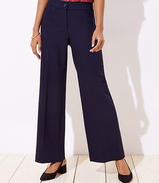 LOFT High Waist Wide Leg Trousers in Curvy Fit