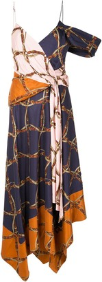 Jonathan Simkhai Asymmetric Saddle-Print Dress