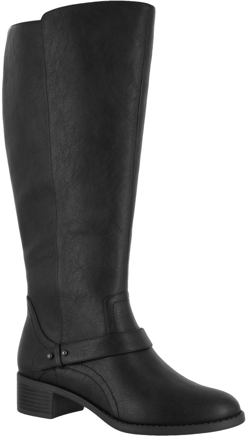Easy Street Shoes Block Heeled Tall Boots - Jewel