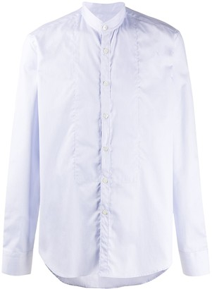 Dell'oglio Mandarin Collar Cotton Shirt