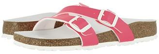 Birkenstock Yao Hex (Neon Orange Patent Birko-Flortm) Women's Sandals