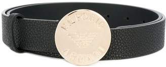Emporio Armani engraved buckle belt