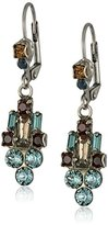 "Sorrelli Blue Brocade"" Deco Dangle French Wire Drop Earring"