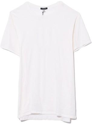 R 13 TS Cotton Cashmere Boy T in Ecru