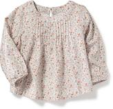 Old Navy Patterned Pintuck Top for Baby