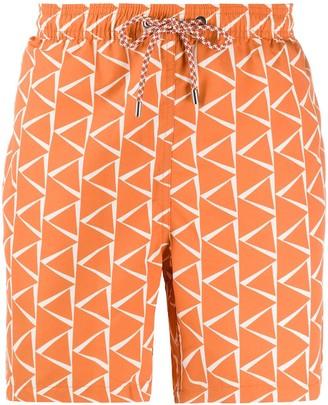 Closed Geometric Print Swim Shorts